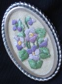 Violets Brooch (sold)